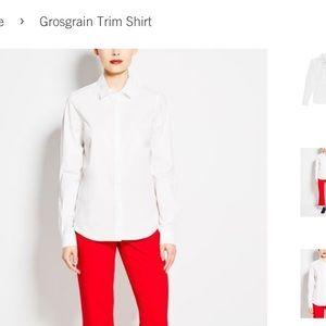 Pink Tartan Grosgrain Trim Shirt